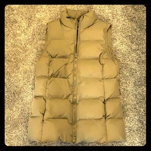 GAP olive green down winter vest